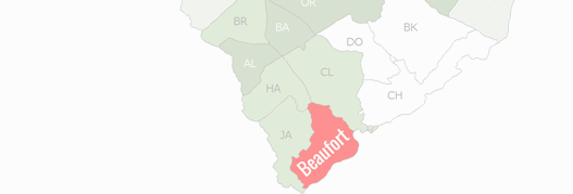 Beaufort County Map